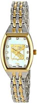 Game Time Women's NHL-WCL-NYR World Class Two-Tone Stones Analog Display Japanese Quartz Silver Watch