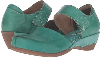 L'Artiste by Spring Step Gloss (Turquoise) Women's Clog/Mule Shoes