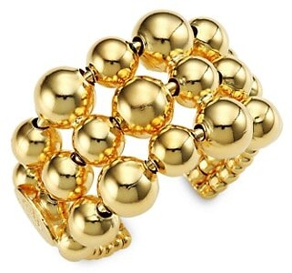 Gas Bijoux 24K Goldplated Bead Ring