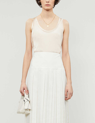 Reiss Remey silk-satin and jersey vest top
