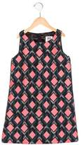 Milly Minis Girls' Sleeveless Geometric Patterned Dress