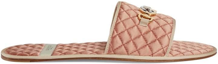 Gucci Men's slide sandal with Interlocking G Horsebit
