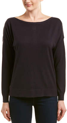 French Connection Vented Back Silk-Blend Sweater