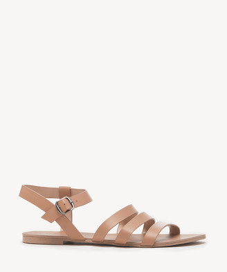 Sole Society Women's Eesha Strappy Flat Sandals St Tropez Size 5 Leather From