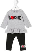 Moschino Kids heart logo trouser set