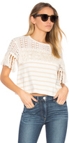 See by Chloe Short Sleeve Fringe Top