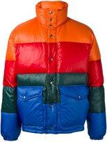 Diesel colour block padded jacket