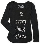 Dirtee Hollywood Girls 7-16) Everything Nice Slub Knit Top