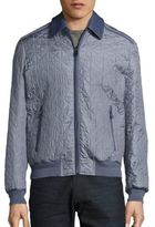 Brioni Quilted Silk Bomber Jacket