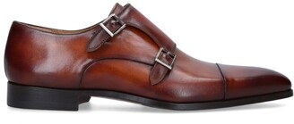 Magnanni Burnished Double-Monk Shoes