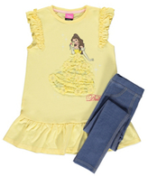 George Disney Princess Belle 2 Piece Top and Jeggings Set