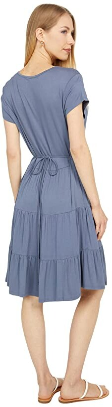 Thumbnail for your product : Lucky Brand Printed Tiered Babydoll Dress