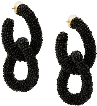 Oscar de la Renta Beaded Link Earrings