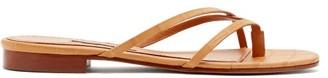 Emme Parsons Sam Crocodile-effect Leather Sandals - Womens - Tan