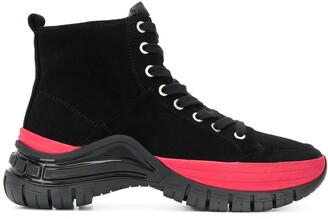 Calvin Klein Jeans panelled lace-up boots