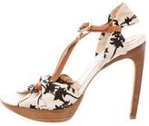 Celine Canvas Platorm Sandals