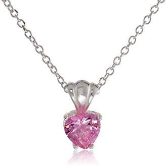 Disney Cubic Zirconia Heart Charm Pendant Necklace