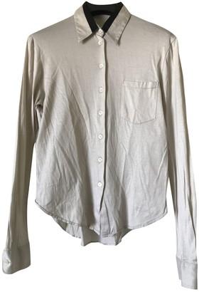 Helmut Lang Beige Cotton Top for Women Vintage