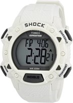 Timex Men's T49899 White Resin Quartz Watch with Dial