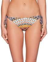 Nanette Lepore Women's Super Fly Paisley Vamp Cheeky Side Tie Bikini Bottom