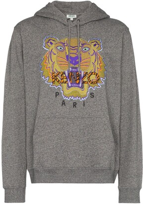 Kenzo Hiking Tiger embroidered hoodie
