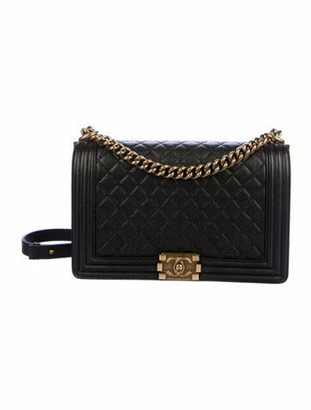 Chanel Caviar Large Boy Bag Black