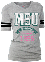 Soffe Michigan State Spartans Football Tee - Women