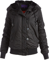 Steve Madden Black Convertible-Hood Coat