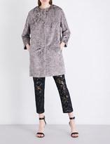 S Max Mara Tcape faux-fur coat