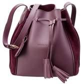 Longchamp Penelope Soft Leather & Suede Bucket Bag.