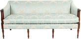 One Kings Lane Vintage Late 19th Century Mahogany Framed Sofa - La Maison Supreme - blue