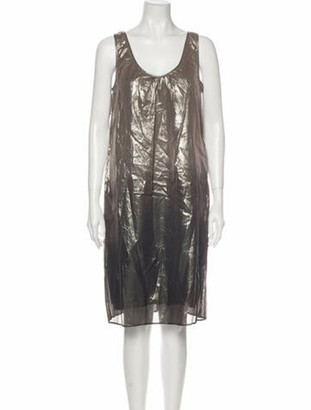 Burberry Tie-Dye Print Knee-Length Dress Grey