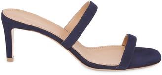 Mansur Gavriel Suede Fino Sandal - Blu