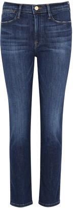 Frame Le High Straight Dark Blue Jeans