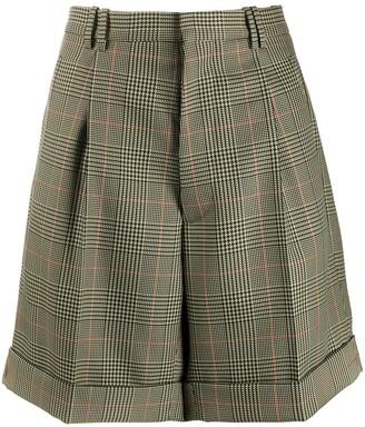 Maison Margiela Checked High-Waisted Shorts