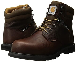Carhartt 6 Waterproof Steel Toe Work Boot (Brown Pebble Oil Tanned) Men's Work Boots