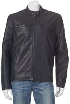 Dockers Men's Faux-Leather Classic Racer Jacket