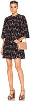 Valentino Heart Print Bell Sleeve Mini Dress