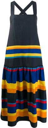 Parker Chinti & striped shift dress
