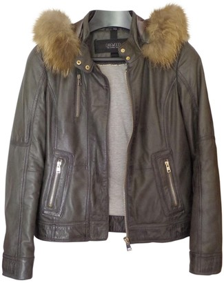 Oakwood Brown Leather Leather Jacket for Women