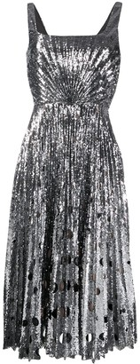 Marco De Vincenzo Sequin Midi Dress