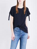 Helmut Lang Henley cotton and cashmere-blend T-shirt