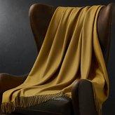 Crate & Barrel Lima Alpaca Caramel Throw Blanket