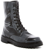 Moschino Etched Design Combat Boot