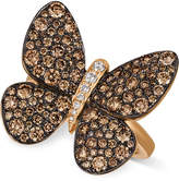 LeVian Le Vian Chocolatier Chocolatier Diamond Butterfly Ring (1-7/8 ct. t.w.) in 14k Rose Gold
