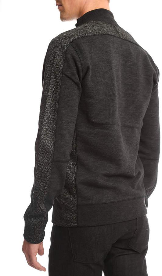 Vince Piece Dyed Fleece Track Jacket