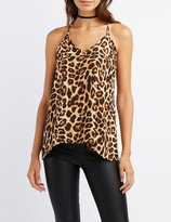 Charlotte Russe Leopard Strappy Tank Top