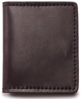 Filson Men's Leather Bifold Cash & Card Case - Brown