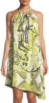 Rachel Roy Halter-Neck Asymmetric Scarf Dress