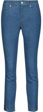 Alexander McQueen Mid-Rise Lace-Up Slim-Leg Jeans